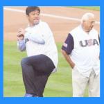野茂英雄の始球式(WBCアメリカ戦動画)。ビデオ判定と菊池と先発の菅野。千賀は?